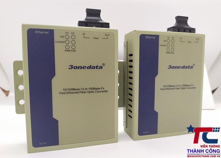 3Onedata Model 1100-S-SC-20KM – Converter quang 2 cổng tốc độ 100M