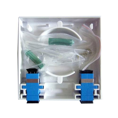ODF 2FO trong nhà vỏ nhựa- Hộp chia quang 2FO trong nhà Full phụ kiện