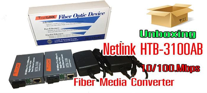 Bộ chuyển đổi quang điện Netlink HTB-3100AB25KM