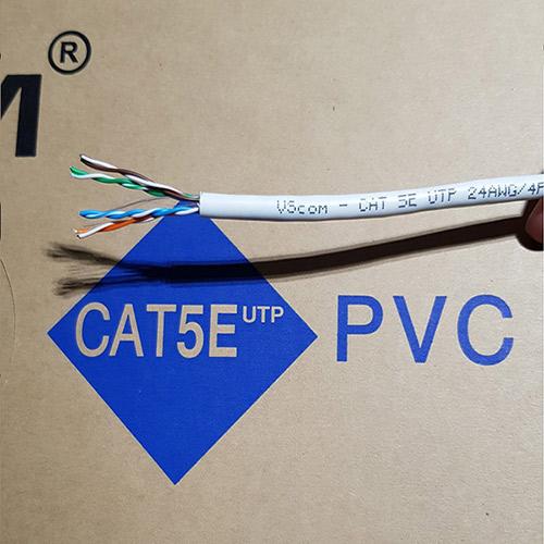 Cáp mạng Vcom Cat 5E UTP 24AWG 4PRS – PVC 305m