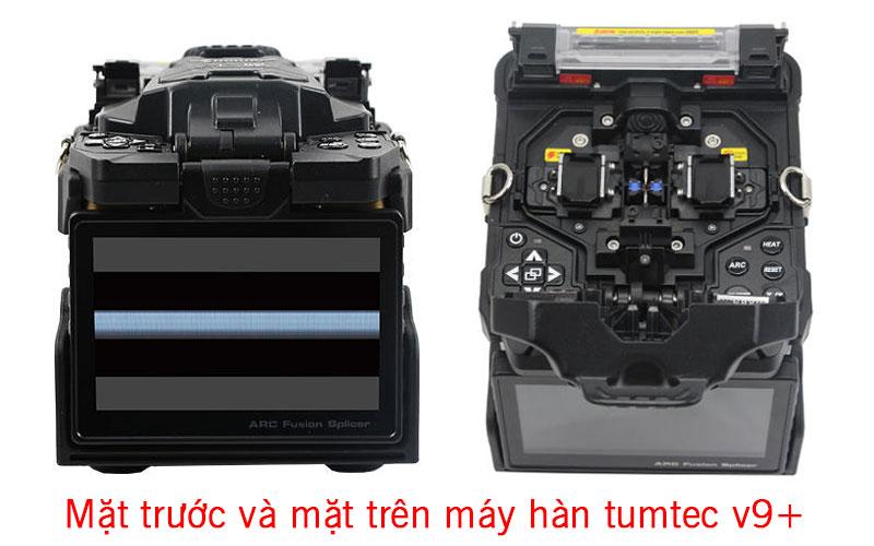 mặt trước và trên của máy hàn
