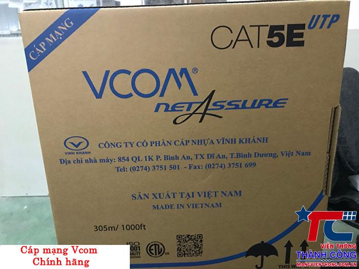 thùng cáp mạng Vcom cat5e pvc chính hãng