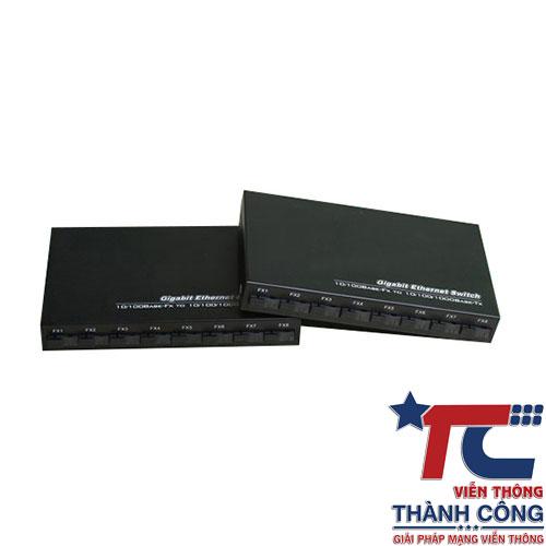 Switch quang 8 cổng SM Vnlink AB tốc độ 1000Mbps