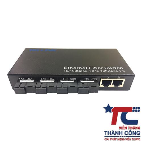 Switch quang HL-FT-4F2E 4 cổng SC + 2 Cổng RJ45 tốc độ 10/100Mbps