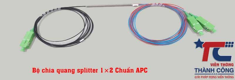 Bộ chia quang splitter 1×2 chuẩn APC