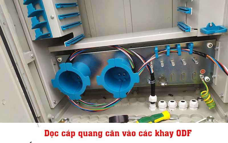 Hàn cáp quang tủ ODF 144Fo phối cáp