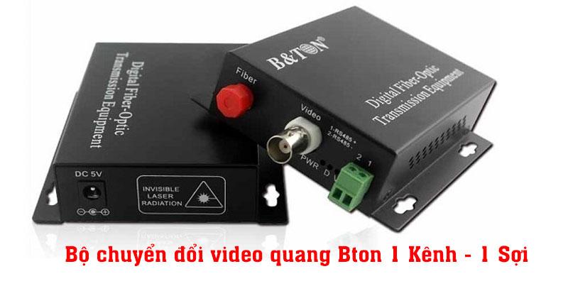 Bộ chuyển đổi video quang Bton 1 Kênh - 1 Sợi