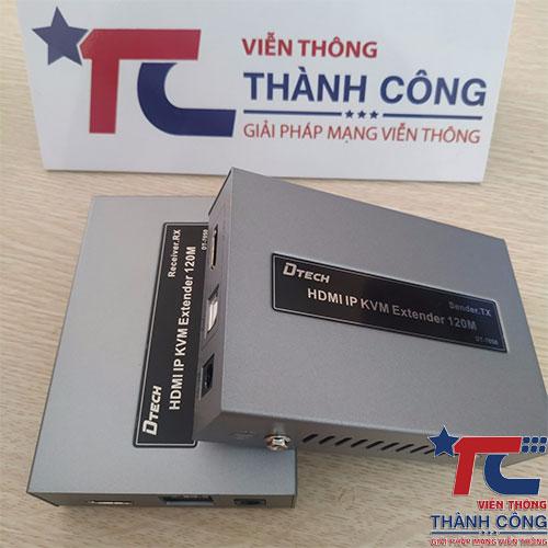 Bộ kéo dài HDMI 120M Dtech – DT-7050 có USB