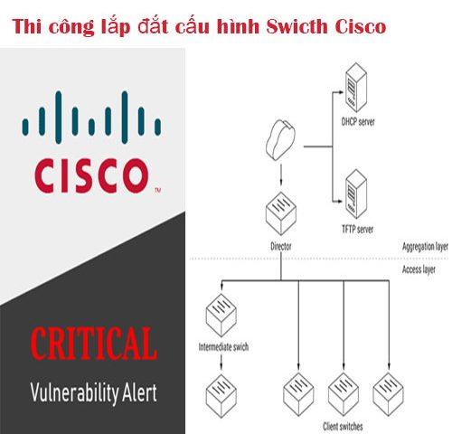 Nhận cấu hình Switch cisco, hệ thống mạng Firewall