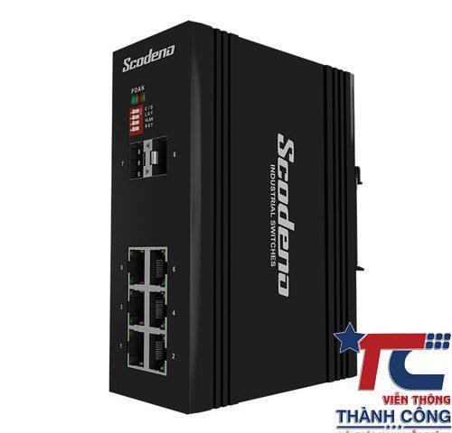 Switch quang công nghiệp 8 cổng Scodeno XPTN-9000-65-2FX6TX