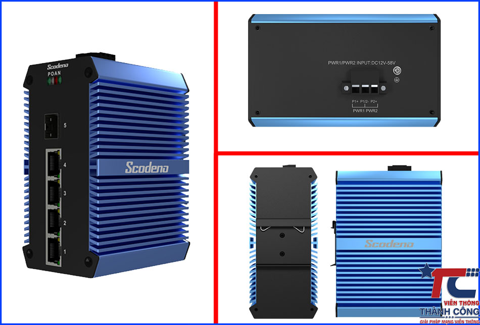 Industrial Ethernet Switches Gigabit Scodeno Xblue XPTN-9000-65-1GX4GT-X