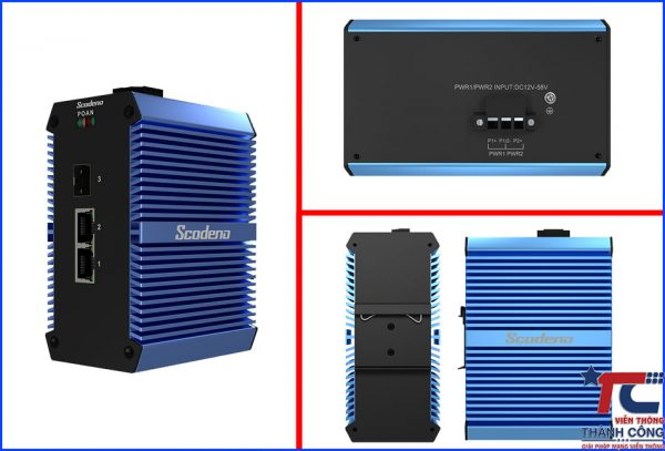 Switch mang cong nghiep Scodeno Xblue 3 port