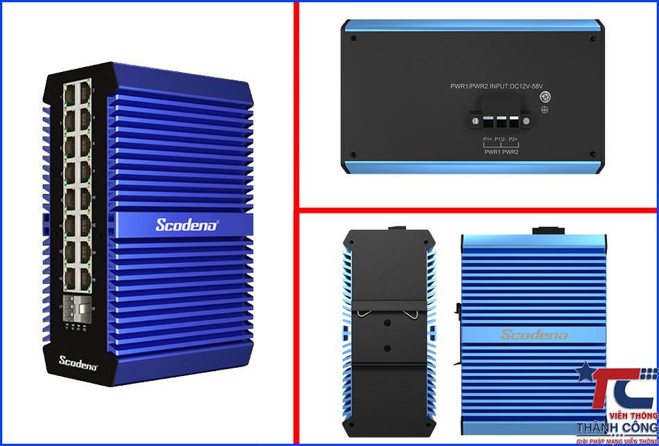Switch Unmanaged Scodeno Xblue 18port XPTN-9000-65-2GX16GT-X