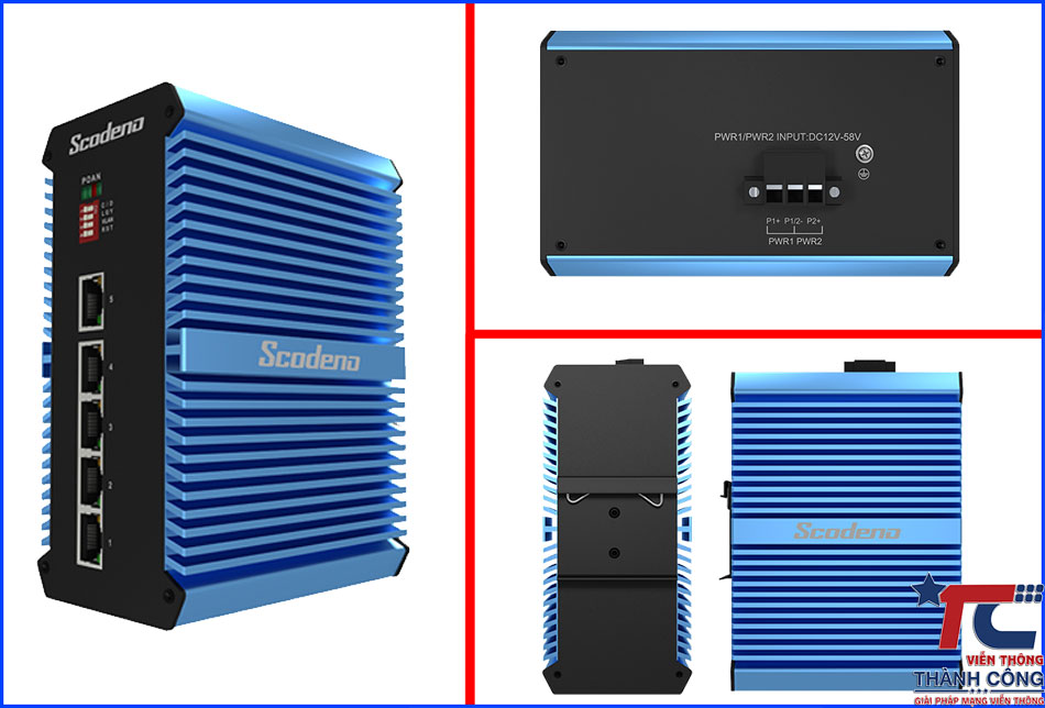 Switch cong nghiep Scodeno Xblue 5port XPTN-9000-65-5GT-X