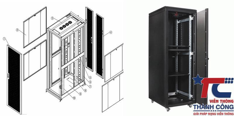 cấu tạo tủ rack 42u
